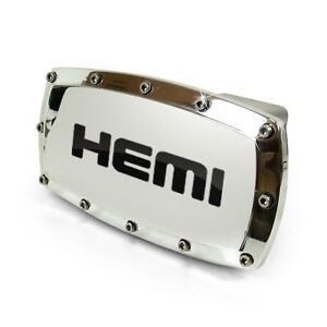 Dodge Hemi Logo Chrome Billet W/ Allen Bolts Tow Hitch Cover
