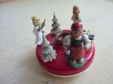 Alte Spieldose Musikspieldose mit Kerzenhalter Weihnachten für Bastler