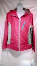 Free Country AE Athletx Series Jacket Hooded Women's M Pink Gray!!