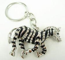 Black Horse Fashion Pendant Charm Rhinestone Crystal Purse Bag Key Ring Chain