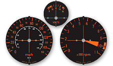 Honda CBX1000 Gauge Faces / Clock Faces / Speedo Tacho Decal Sticker
