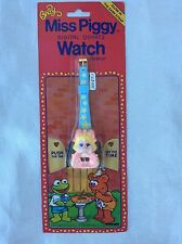 Baby Miss Piggy Watch Vintage 1987 Henson Productions Muppet Babies Rare Sealed