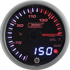 PROSPORT 60mm JDM Series Amber Red & White Led Warning Oil Temperature Gauge C