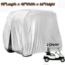 Silver 2 Seater Waterproof Heavy Duty Golf Cart Buggy Storage Cover For Yamaha