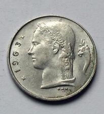 1963 BELGIUM Coin - 1 Franc - Belgie - AU lustre