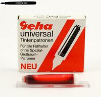 Geha P6 universal Tintenpatronen in Brilliant-Rot (für die alten Schulfüller)