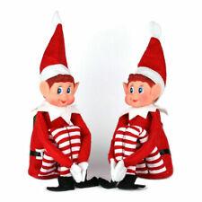 """2 Naughty elves girl & boy elf behaving badly on the shelf Christmas 30cm 12"""""""