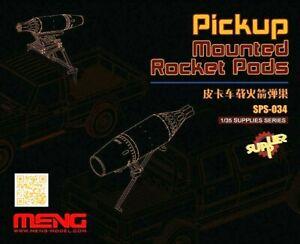 Meng Models 1:35 Mounted Rocket Pods For Pickup Truck Resin Model Kit