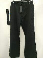 """French Connection Black Coated Wide Leg Zippered Casual Pants Size 30 X 32"""" NWT"""