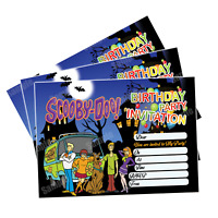 20 x Scooby-Doo Kids Child Birthday Party Invitations Invites Cards Boys Girls