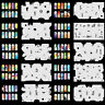 OPHIR Airbrushing Template Sheet Stencil with 20 PCS for Nail Decoration Paint