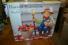 Harvest Scarecrow With Bench and Basket. Local pickup only.