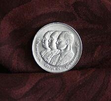 King Bhumibol Adulyadej Rama 9, 5 & 6 Chulalongkorn 1989 Thailand 10 Baht Coin b