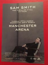 Sam Smith Thrill Of It All UK Tour 2018 @ Manchester Arena A5 Colour Promo Flyer