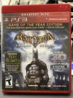 Batman Arkham Asylum 3-D Game of the Year Edition PS3 GOTY Sony PlayStation 3