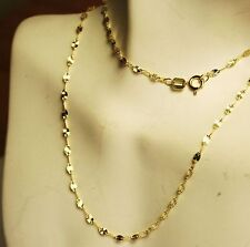 Beautiful 14k solid yellow gold 16 inches long star link very sparkly chain
