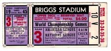 1945 World Series Ticket Stub, Game 3 - Chicago Cubs at Detroit Tigers