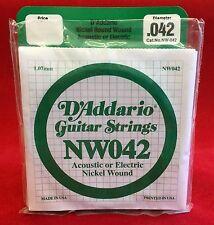 D´Addario Gitarrensaiten NW042 für akustische oder elektrische Gitarre - 5 Stück