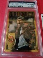 Bobby BOB Knight PSA /DNA CERTIFIED AUTOGRAPH AUTO CARD & RELIC COACH IU INDIANA