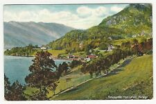 PC, Lake or fjord and green countryside, Telemarken from Lardal, NORWAY, ca1911