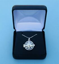 General Hospital Sterling Silver Compass Rose Locket & Silver Chain