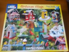 White Mountain Jigsaw Puzzle Birdhouse Village 550 Piece #1137 Complete