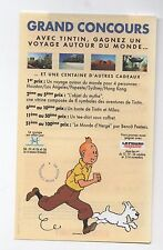 Flyer Tintin. Grand concours Casterman Le Figaro 1996. (réf. 71/15)