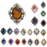 10x Crystal Rhinestone Button Flatback Cabochon Wedding Embellishments DIY Decor