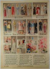 1981 Vintage PAPER PRINT AD BARBIE KEN doll outfit Dolly Pops house furniture
