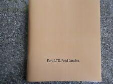 1975 FORD LTD AND LANDAU (P5) SALES  BROCHURE  100% GUARANTEE.