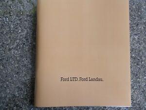 FORD LTD AND LANDAU (P5) SALES BROCHURE