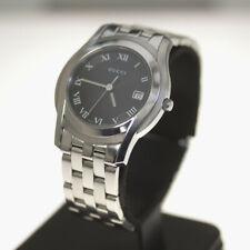 GUCCI G Class 5500M YA055302 Quartz Black Dial Date Stainless Men's