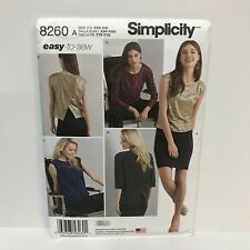 Uncut Simplicity Pattern 8260 XXS-XXL Misses Top In Two Lengths Fabric Variation