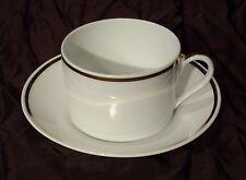 Tasse et sous tasse porcelaine hutschenreuther blanc et or