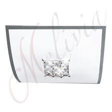 Lámpara de techo Ø30 Aplique pared cristal blanco E27