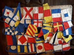 High Quality Vintage Cotton Maritime Code of Signals bunting - sewn, not printed