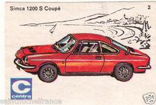 Simca 1200 S Coupé Voiture Car ETIQUETTE BOITE ALLUMETTES MATCHBOX LABEL 1970