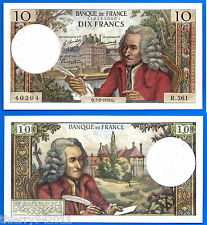 France 10 Francs 1970 5 February Voltaire RADAR Bill Frcs Frcs Free Ship World
