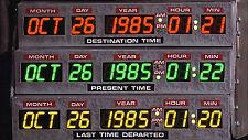 """Back to the Future 1985 DeLorean Time Machine Dashboard - 17"""" x 22"""" Print -00212"""