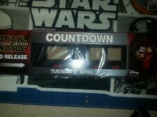STAR WARS The Force Awakens Promotional Countdown Clock Face April 5th DVD