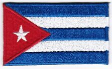 Cuba Flag Patch Embroidered Iron On Applique Cuban