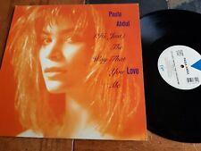 "PAULA ABDUL ""It's Just The Way That You Love Me"" SINGLE LP  45 RPM 12"" EX 1988"