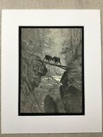 Goats Goat La Fontaine's Fables Story Book Gustave Dore Engraving Antique Print