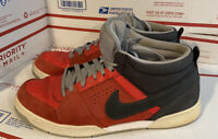 Rare Nike Renzo Skate Shoes Size 14 Red, Gray & Black. 525617-600