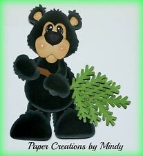 CRAFTECAFE MINDY BEAR OUTDOOR WOODS premade paper piecing scrapbook page album