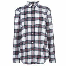 Jack Wills Womens Long Sleeve Casual Shirts Guilden Checked Boyfriend Shirt