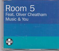 Room 5 feat Oliver Chetham-Music &You promo cd maxi single 3 tracks