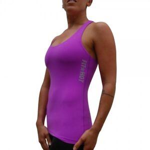 Ladies Purple Fitness Wear Gym Singlet padded size XS , S , M