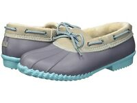 JBU By Jambu Women's Gwen Duck Slip-On Rain Shoes - Sky Blue