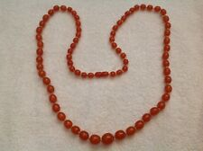 VINTAGE HONEY AMBER GRADUATED KNOTTED NECKLACE